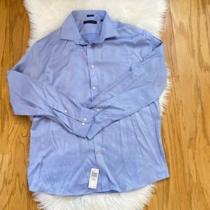 NWT Tommy Hilfiger men blue dress shirt  17 34/35